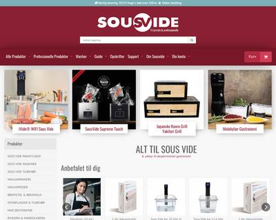 sousvide.dk website