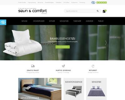 sovn-comfort.dk website