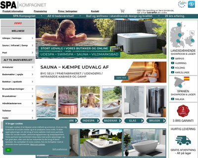 spakompagniet.dk website