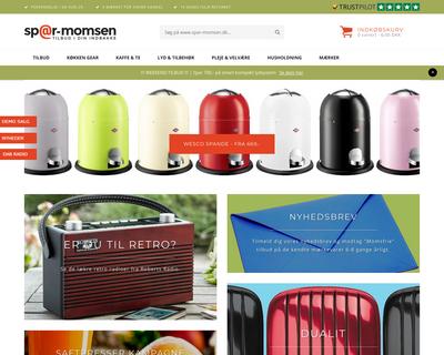 spar-momsen.dk website