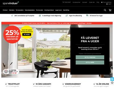 sparvinduer.dk website