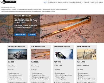 speedbaaden.dk website