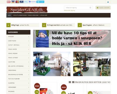 spejdergear.dk website