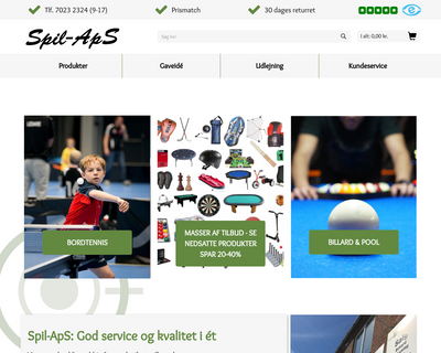 spil-aps.dk website