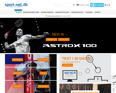 sport-net.dk website