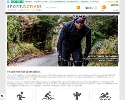 www.sportactives.dk website
