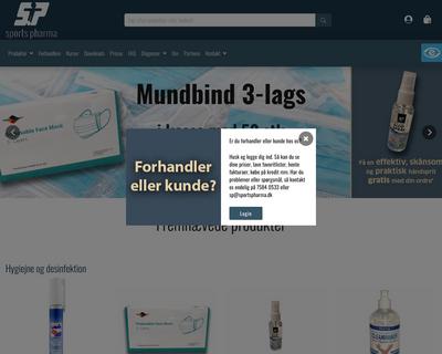 sportspharma.dk website