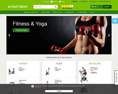 sporttema.dk website