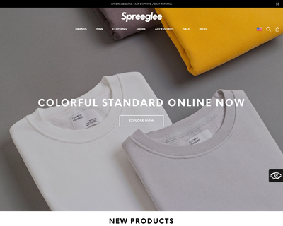 spreeglee.dk website