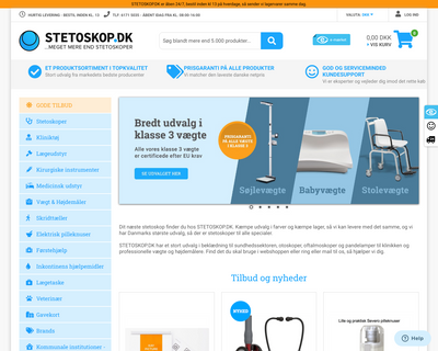 stetoskop.dk website