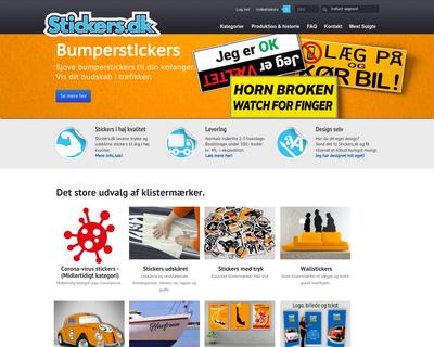 stickers.dk website