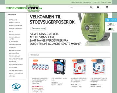 stoevsugerposer.dk website
