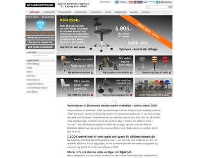 stoleshoppen.dk website