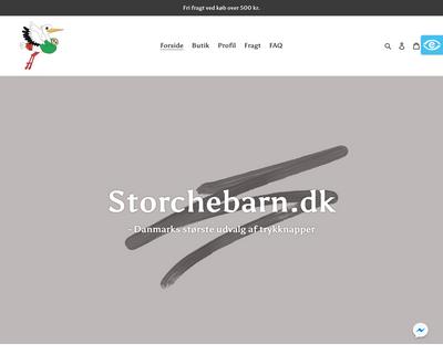 storchebarn.dk website
