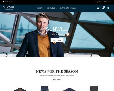 www.sunwill.eu website