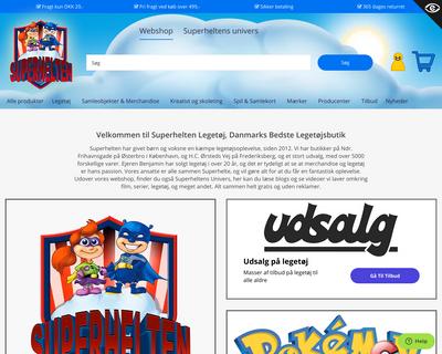 superheltenlegetoej.dk website