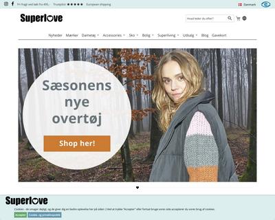 superlove.dk website