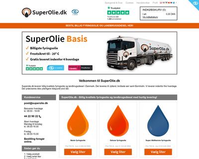 superolie.dk website