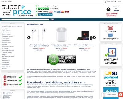 superprice.dk website