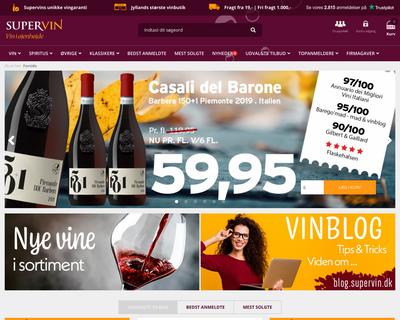 supervin.dk website