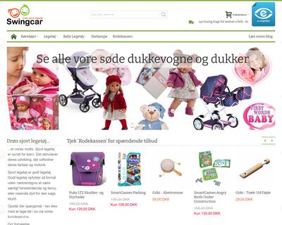 swingcar.dk website