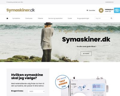 symaskiner.dk website