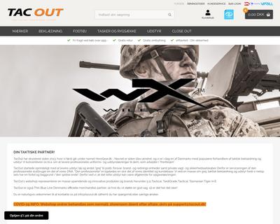 www.tacout.dk website