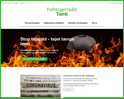 taenk.dk website