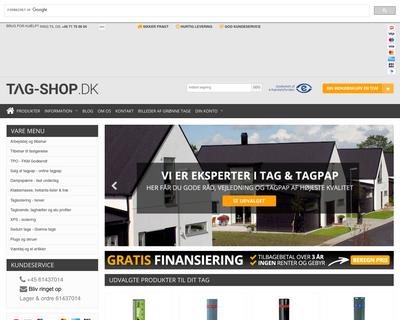 tag-shop.dk website