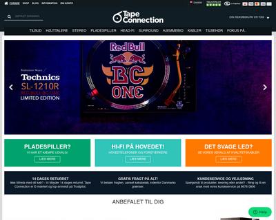 tapeconnection.dk website