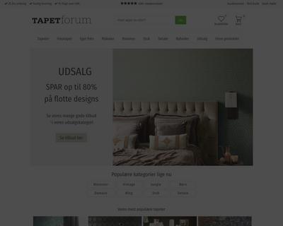 tapetforum.dk website