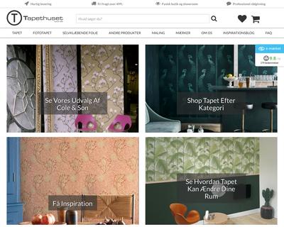 tapethuset.dk website