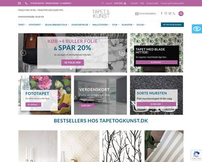 tapetogkunst.dk website