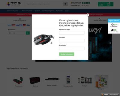 tcs-shop.dk website