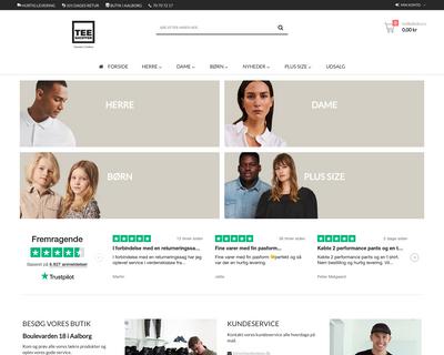 teeshoppen.dk website