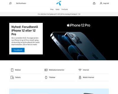 telenor.dk website