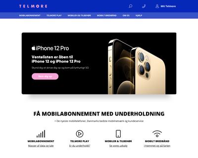 telmore.dk website