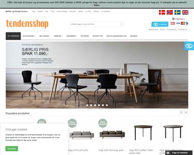 tendensshop.dk website