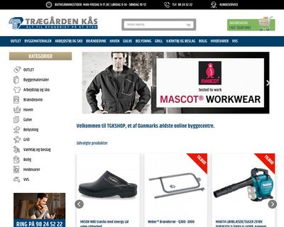 tgkshop.dk website