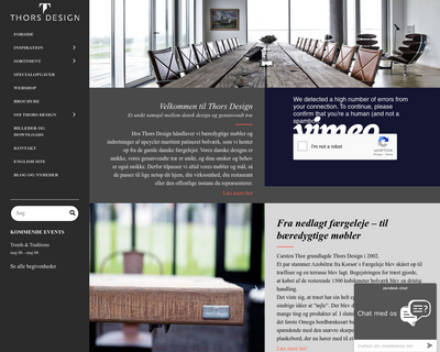 thors-design.dk website