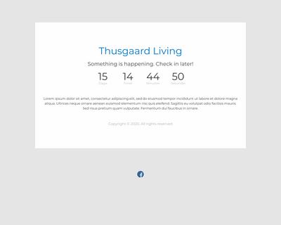 thusgaard-living.dk website