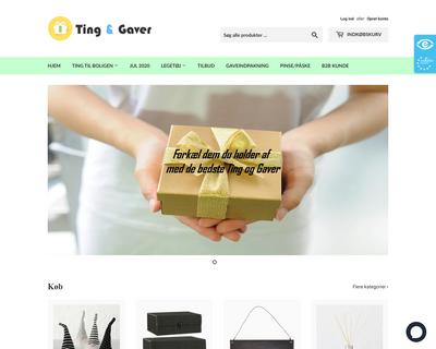 tingoggaver.dk website