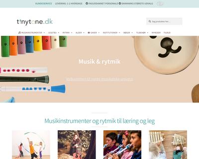 tinytone.dk website