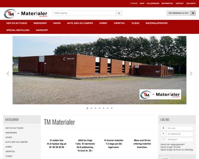 tm-materialer.dk website