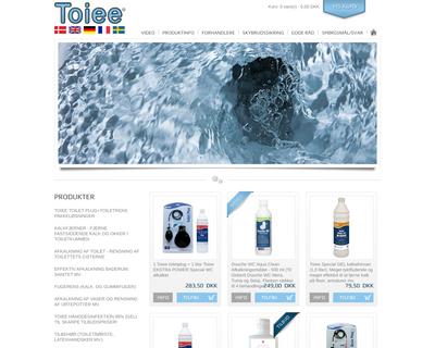 toiee.dk website