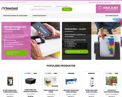 www.tonerland.dk website