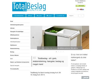 totalbeslag.dk website