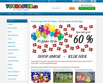 toymaster.dk website