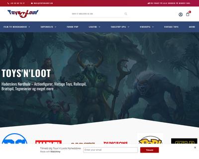 toysnloot.dk website