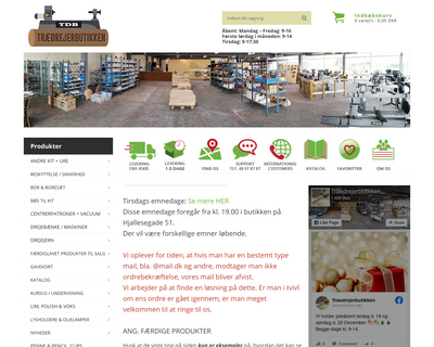 traedrejerbutikken.dk website